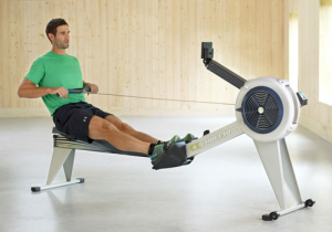 Man on Gray Concept2 Rower