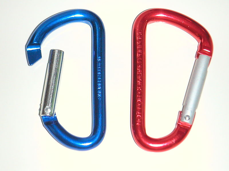 Aluminum Carabiners with an Anodized Finish
