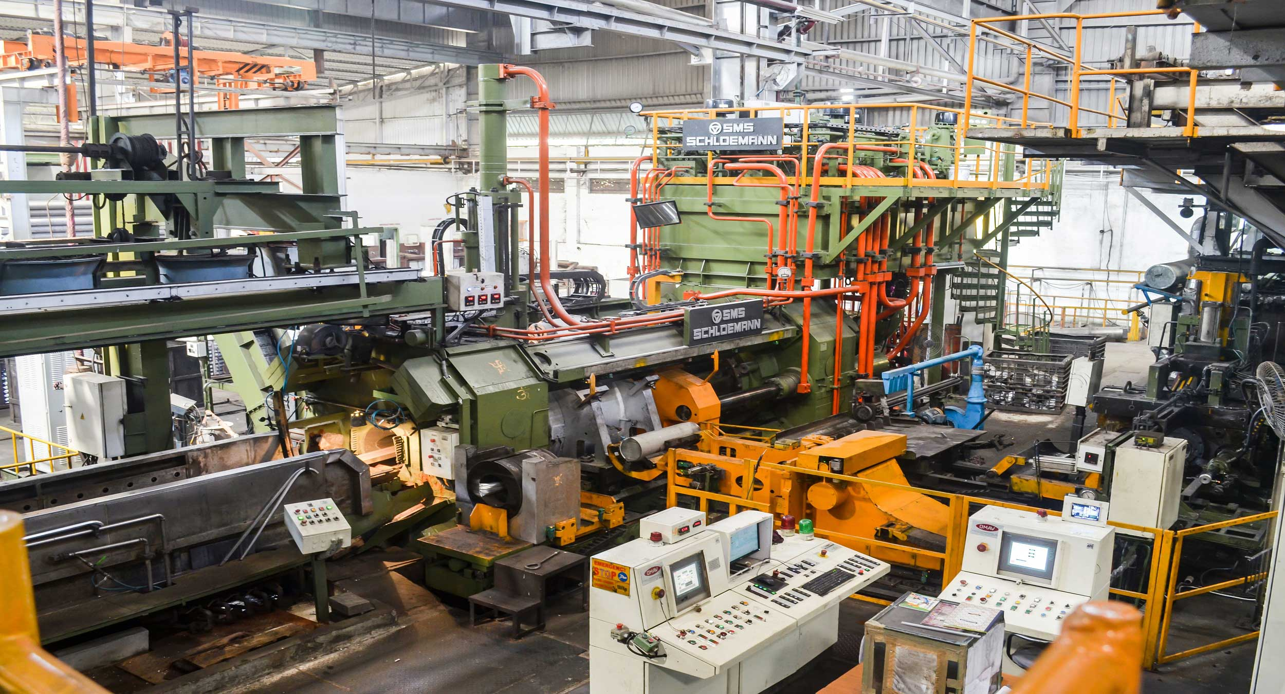 Machinery and equipment at one of our Indian factories