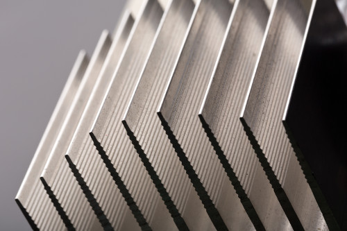 Aluminum Heat Sink Fins Pointing Left