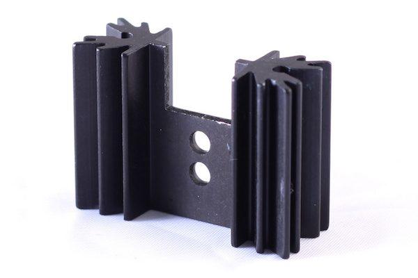 Black Anodized Aluminum Heatsink