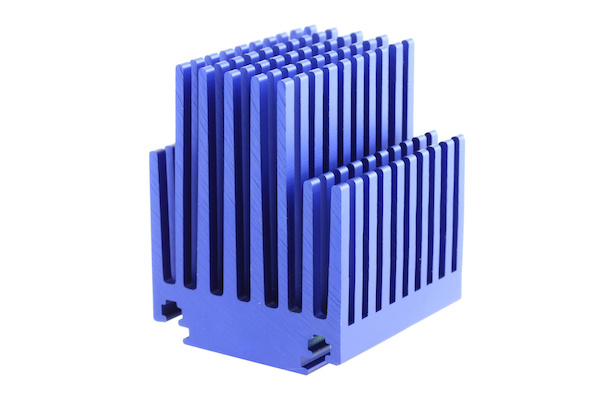 Blue Anodized Heatsink With Pins