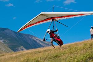 Man Hang Gliding