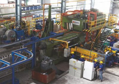 Extrusion Press in Operation