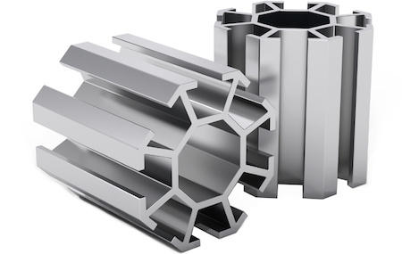 Aluminum Extrusions 3D Graphic