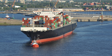 Cargo ship carrying containers