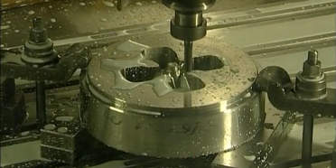 Extrusion die being machined from H13 steel