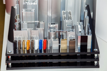 Various finished aluminum extrusions