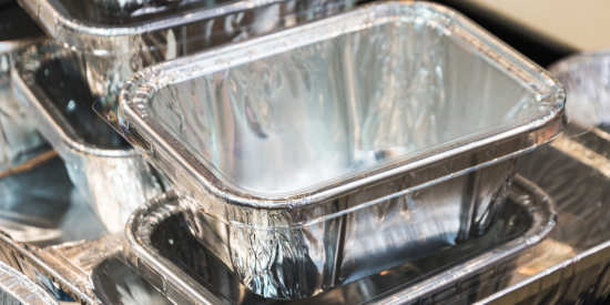 Aluminum foil trays made from SRC foil