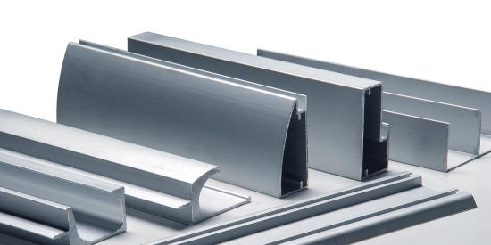 Various custom aluminum extrusions