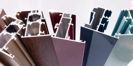 Profiles with different surface finishes