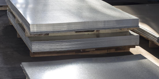 Stacked Aluminum Sheet
