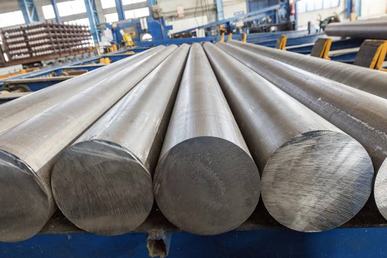 Aluminum billets used for the extrusion process