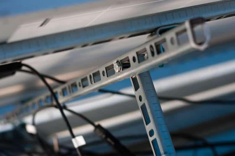 Steel solar panel frames