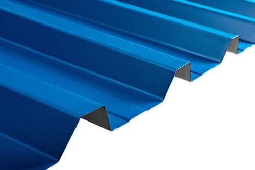 Blue corrugated aluminum roofing sheet