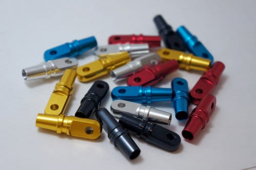 Anodized aluminum parts