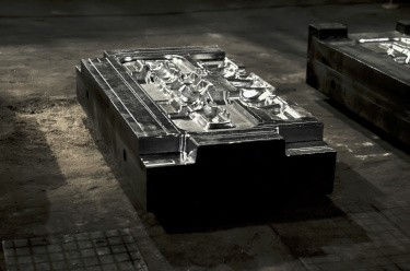 Die mold for aluminum fabrication of auto parts