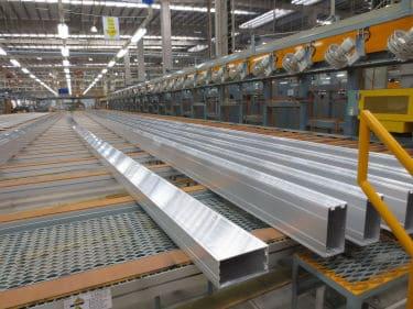 Full-length aluminum extrusions