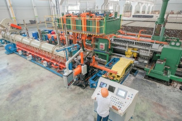 Extrusion press for aluminum fabrication