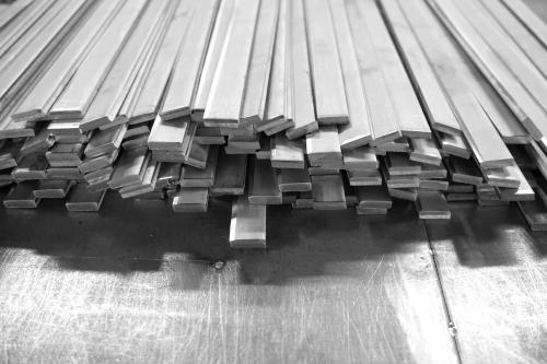 Flat 6061 aluminum bar